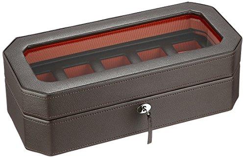 WOLF 458306 Windsor 5 Piece Watch Box, Brown