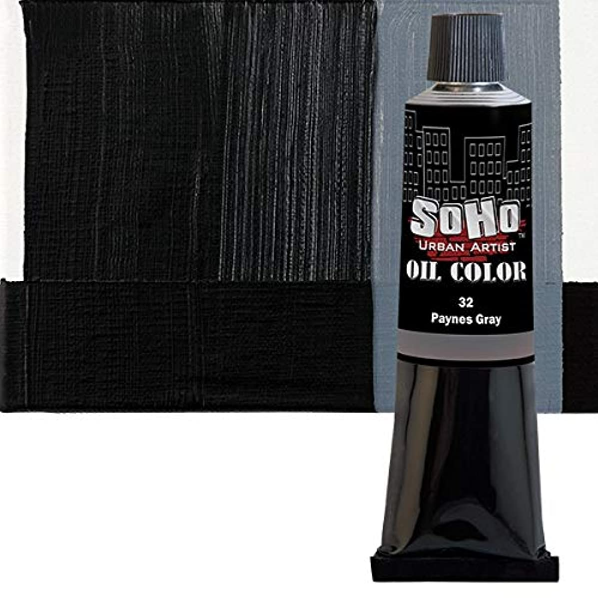 SoHo Urban Artist Oil Color Paint and High Pigmented Professional Oil Paint - 170 ml Tube - Payne's Grey