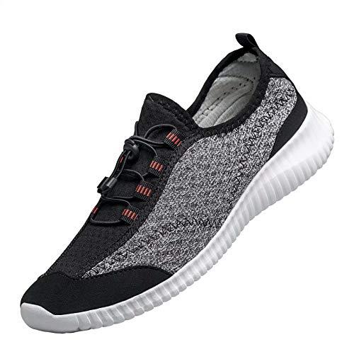 [MOXOCO] ジョギングシューズ 運動靴 ランニングシューズ レディース ウォーキングシューズ メンズ トレーニング カジュアル 軽量 クッション性 幅広 通学 通勤 日常着用 ライトグレー 25.0cm