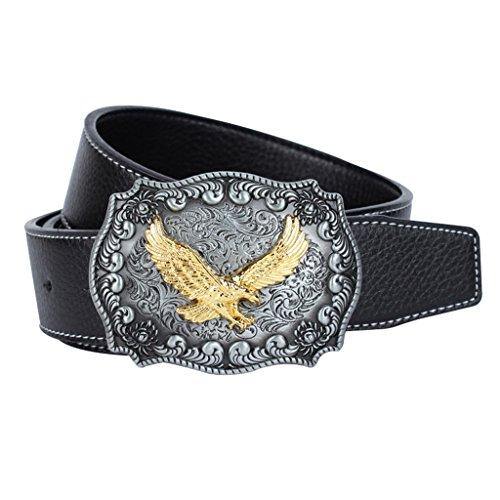MagiDeal Cinturón de Estilo Vintage para Hombres Ornamento para Pantalones Vaqueros