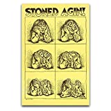 Stoned Agin Robert Crumb Poster Decorative Painting Canvas Mural Living Room Poster Bedroom Painting 16'×24'(40*60cm)