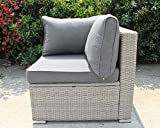 Enjoy Fit Rattan Polyrattan Lounge Sitzgruppe Garnitur Gartenmöbel aus 4 Sitze Sofa - 5