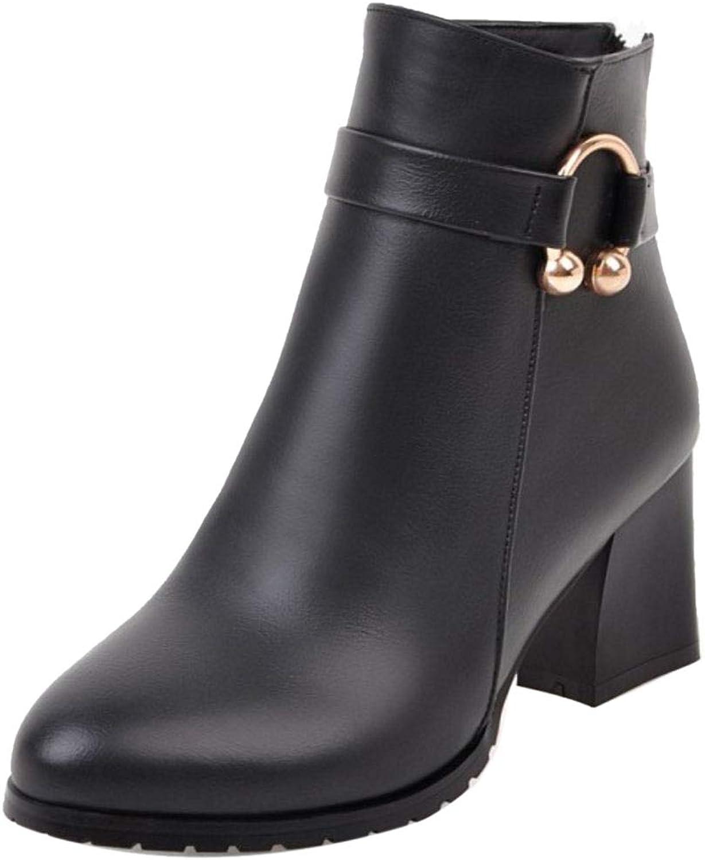 VulusValas Women Block Heel Boots