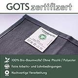BewusstGrün I 12 Faire & Nachhaltige Stoffservietten I 100% Bio-Baumwolle I 45x45 cm Grau - 4