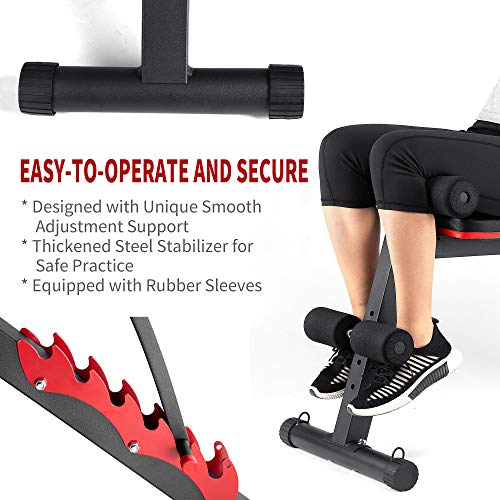 GymCope Weight Bench, Adjustable Strength Training Workout Bench for Full Body, Foldable Utility Incline Decline Bench for Home Gym
