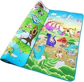 Z Baby Play Mat, 0.5 Cm Thick Crawling Mat Play Mat Baby, Animal Car + Dinosaur Development Mat Kids Activity Mat Gym Fold...