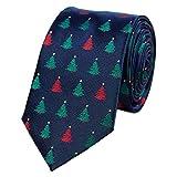 ZOYLINK Weihnachtskrawatte Feiertags Bindung Weihnachtsmuster Partei Krawatte für Männer