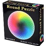 GEMVIE Puzzles 1000 Piezas para Adultos Niños Puzzle 1000 Piezas Educa Rompecabezas de Gradiente para Juegos Familiares,Juegos Educativos, Brain Challenge -Ronda -Diámetro 67.5cm