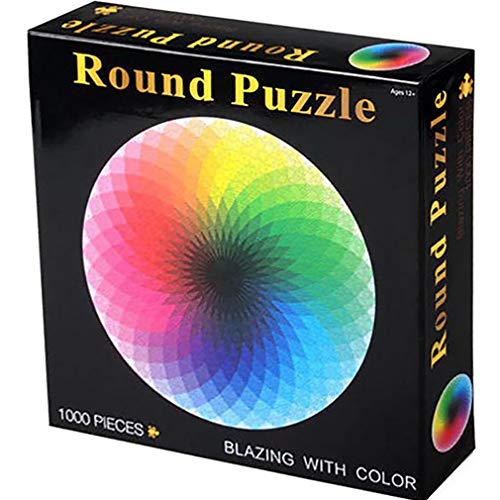 Rompecabezas 1000 Piezas Color Circle Puzzle Ocio Juguete Adecuado para Adultos Y Niños Paleta del Arco Iris Juego Intelectual (MutilcolorA)
