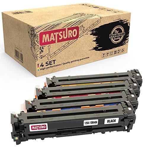Matsuro Original | Compatible Cartucho de Toner Reemplazo para HP 125A CB540A CB541A CB542A CB543A (1 Set)