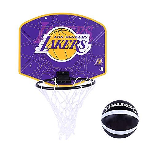 EODPOT Hängende Mini-Rückwand Lakers, Warriors, Cavaliers, Basketballring Board-Anzug, Korbnetz und Wandhalterung, Geeignet für Erwachsene und Kinder-Purple