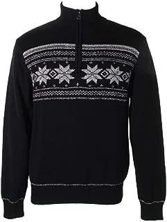 Men's Snowflake Quarter-Zip Sweater