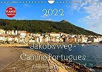 Jakobsweg - Camino Portugues (Wandkalender 2022 DIN A4 quer): Pilgerweg entlang der portugiesischen Kueste von Porto nach Santiago de Compostela (Geburtstagskalender, 14 Seiten )