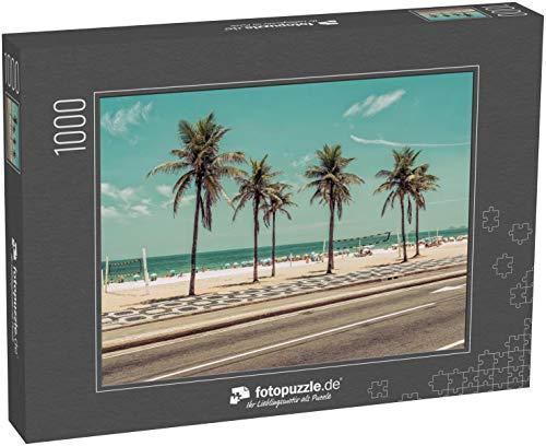 Puzzle 1000 Teile Sonniger Tag mit Palmen am Strand von Ipanema in Rio de Janeiro, Brasilien