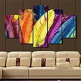 jtxqe lienzos para Pintar Colorido s 5 Paneles Arte de Pared Pinturas de Lienzo Decora de Pared para Sala de Estar Oficina en el hogar Obra de Arte