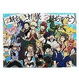 My-Hero-Academy Rompecabezas de madera de 500 piezas de cuadro de arte para adultos y adolescentes, juego de rompecabezas, regalo de 50,8 x 38,1 cm