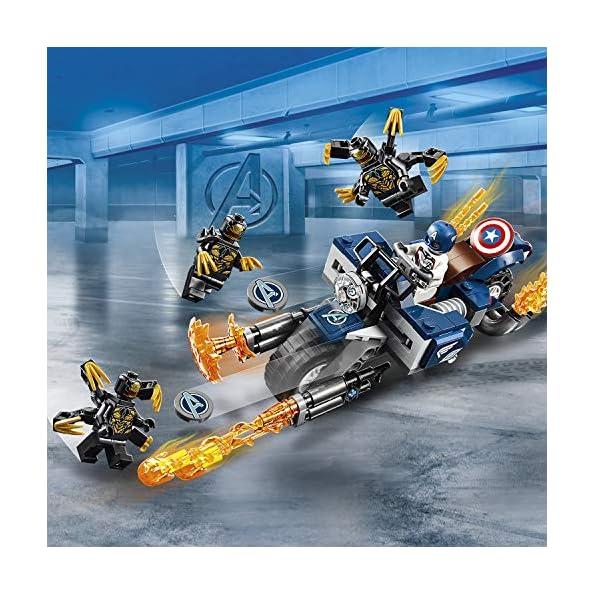 LEGO-Super-Heroes-Captain-America-Attacco-degli-Outrider-con-Captain-America-e-3-Outrider-Set-di-Costruzioni-per-Bambini-6-Anni-e-Fan-di-Marvel-Avengers-76123