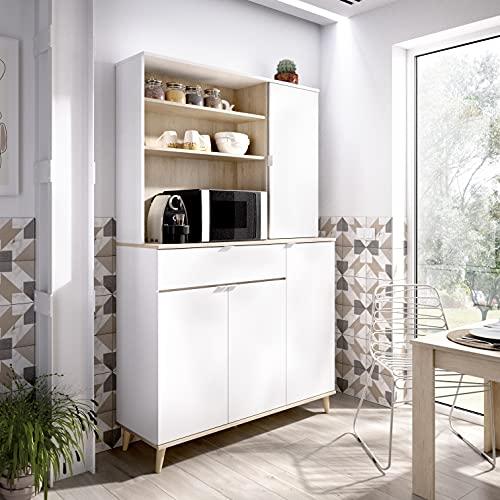 Mueble Auxiliar Blanco/Natural