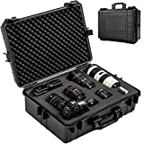 TecTake Camera hard case with 35 litres volume incl. 4 foam material mats waterproof black