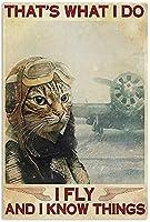 レトロおかしい金属錫サイン8 x 12インチ(30 * 40 cm)アメリカの食料品面白い子猫 ブリキ看板警告通知パブクラブカフェホームレストラン壁の装飾アートサインポスター