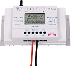 OOYCYOO 40A Solar Charge Controller 40 amp 12V/24V Solar Panel Regulator Charge Controller (T40A)