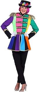 THE Damen Kostüm Garde Zirkus Uniform Jacke Patchwork Karneval