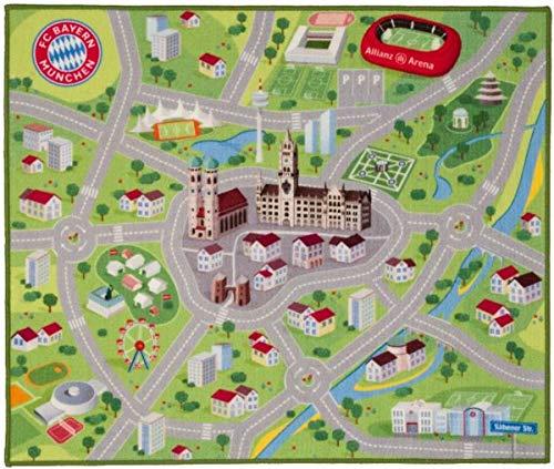 Bayern München compatibel tapijt speeltapijt + sticker München Forever vloerbedekking legware fantapijt