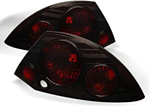 ACANII - For Smoked 00-02 Mitsubishi Eclipse Tail Lights Taillights Brake Assembly Taillamps Left+Right 2000 2001 2002