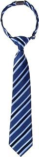 Preppy Stripe Pattern Woven Microfiber Pre-tied Boy's Tie
