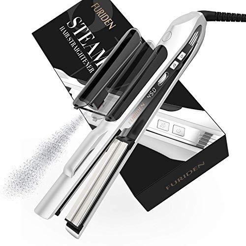 FURIDEN Steam Hair Straightener Flat Iron for Hair...