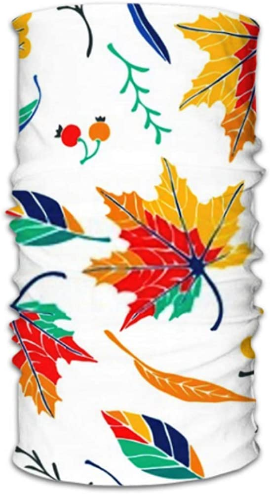 Headbands For Men Women Neck Gaiter, Face Mask, Headband, Scarf Autumn Leaves Cartoon Style Seamless Pattern Turban Multi Scarf Double Sided Print Face Mask Reusable For Sport Outdoor