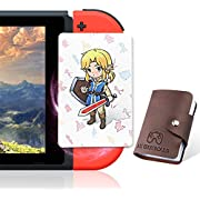 24 Pcs NFC Tag Game Cards for The Legend of Zelda Breath of The Wild (Botw), Switch Wii U with Young Link, 24 Different Cards Full Set with Portable Leather Bag (Value pack)