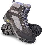 Mountain Warehouse Gale botas impermeables IsoGrip mujer - Calzado de ante para senderismo con malla superior, plantilla de EVA, suela de alta tracción - Caminar, viajar Gris Talla Zapatos Mujer 40 EU
