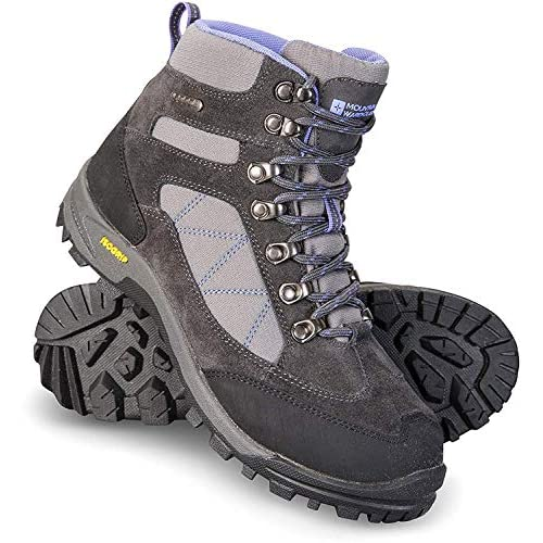 Mountain Warehouse Gale Womens Waterproof IsoGrip Boots - Suede Mesh Upper Hiking Shoes, Eva Footbed, High Traction Outsole - Best for Walking, Travelling, Outdoors Grigio 37