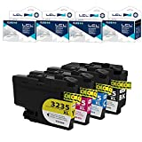 LCL Cartucce d'inchiostro LC-3335 LC3335 LC-3235 XL LC3235XL LC3235BK LC-3235XLBK LC-3235XLC LC-3235XLM LC-3235XLY Compatible con Brother DPC-J1100DW MFC-J1300DW (KCMY)