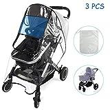 BelleStyle Protector de lluvia universal para cochecitos capazos de bebé...