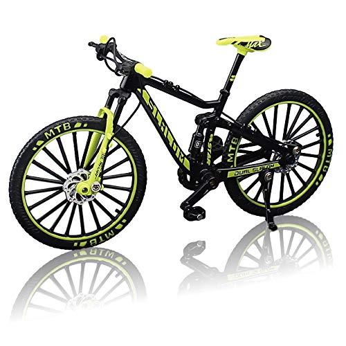 morytrade 自転車 おもちゃ MTB マウンテンバイク 模型 ダイキャスト 1/10 (ブラック/イエロー)
