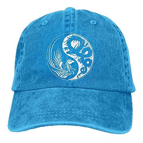 AINCIY Gorra de béisbol Vaquera Dragon Yin Yang-3 Gorra de béisbol Unisex Gorra de Mezclilla Lavada