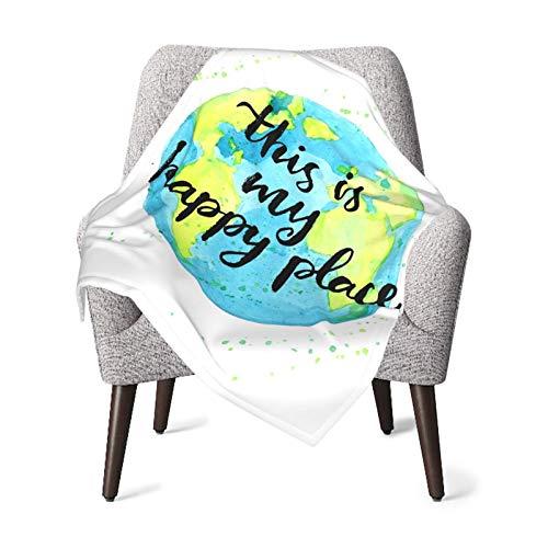 Esta es mi Happy Place - Manta para bebé de enfermería y feliz, cálida y acogedora manta de recepción suave
