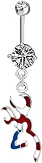 Heart Deer Antlers Belly Button Rings Sexy Belly Ring Dangle 316L Surgical Steel Body Piercing