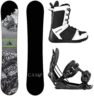 Camp Seven 2020 Valdez Snowboard Flow Bindings & APX Boots Men's Complete Snowboard Package