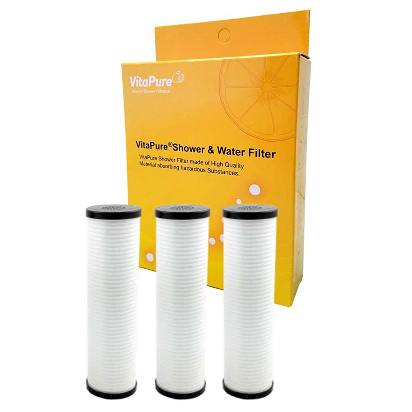 Sonaki PureMax Shower Filter Refill Cartridges - Pack includes 3 ACF Filter - Removes Bacteria, Heavy Metals and Chlorine
