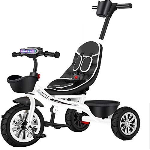 Pkfinrd Trikes driewieler 3 wielen, kinderstoel, hoog koolstofstaal frame, titanium leeg wiel, 5-punts veiligheidsriem, peuter driewielers 1-6 jaar oude rit
