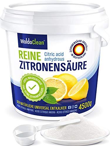 Zitronensäure Pulver 4,5 kg zum Entkalken & Reinigen - in Lebensmittelqualität 100% Reinheit