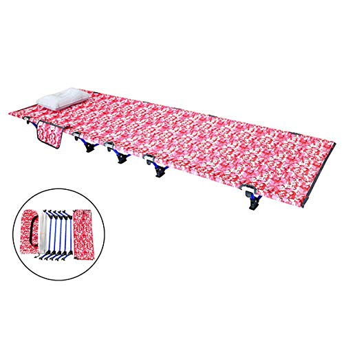 Red Camouflage Ultra Stevige Folding Vissen Camping bed slapen Portable rugzak Tent Cot, voor Indoor Furniture Outdoor Travel Wandelen Jacht,M