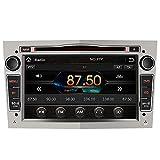 AWESAFE Autoradio 2 Din per Opel Meriva Corsa Zafira Vivaro Antara Combo, 7 Pollici Windows Bluetooth Vivavoce Car Radio con Navigatore Supporta il funzionamento del volante CD DVD USB SD RDS DAB+