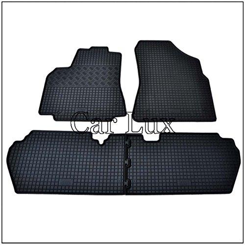 Car Lux AR02315 - Alfombras Alfombrillas de goma a medida para Partner Tepee