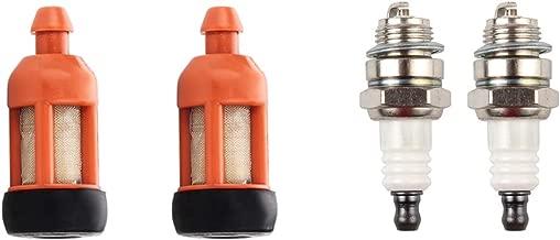 Dalom (Pack of 2 Fuel Filter w Spark Plug for STIHL 009 010 011 015 017 018 021 023 025 026 028 029 036 044 066 MS170 MS180 MS210 MS230 MS250 MS260 MS361 MS390 MS440 MS660 Chainsaw