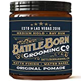Pomade by Battle Born Grooming Co | All Natural Unorthodox Water Based Pomade (Bay Rum, 4 oz)