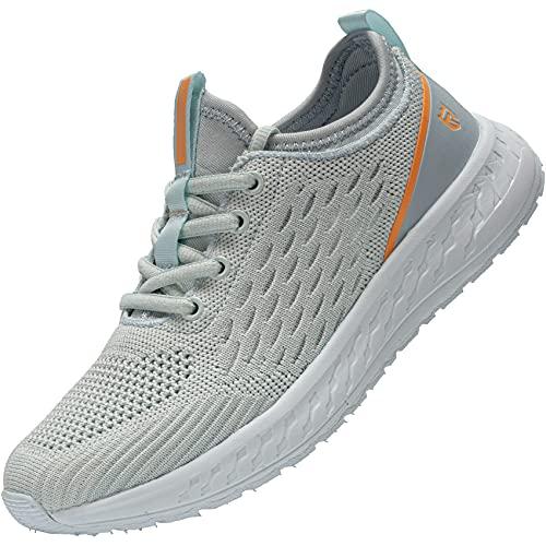 LARNMERN PRO Zapatillas de Deporte Mujer Running Zapatos Ligero Transpirable Correr Gimnasio Casual Sneakers Comodo Gym Shoes Amarillo 37 EU